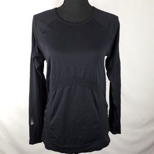 Finish Fast Long Sleeve Black Top by Athleta XL